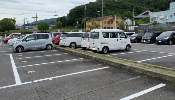 道の駅ふみたかパーク富麻の駐車場