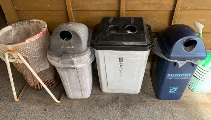 日吉夢産地のゴミ箱