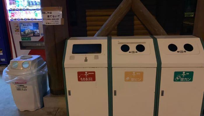 道の駅厳木のゴミ箱